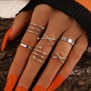 5/$12 💞 6pc Silver Boho Ring Set